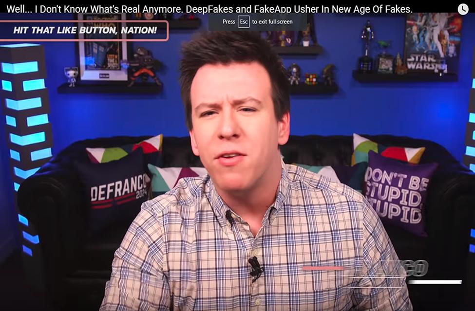 Philip DeFranco on Deepfakes